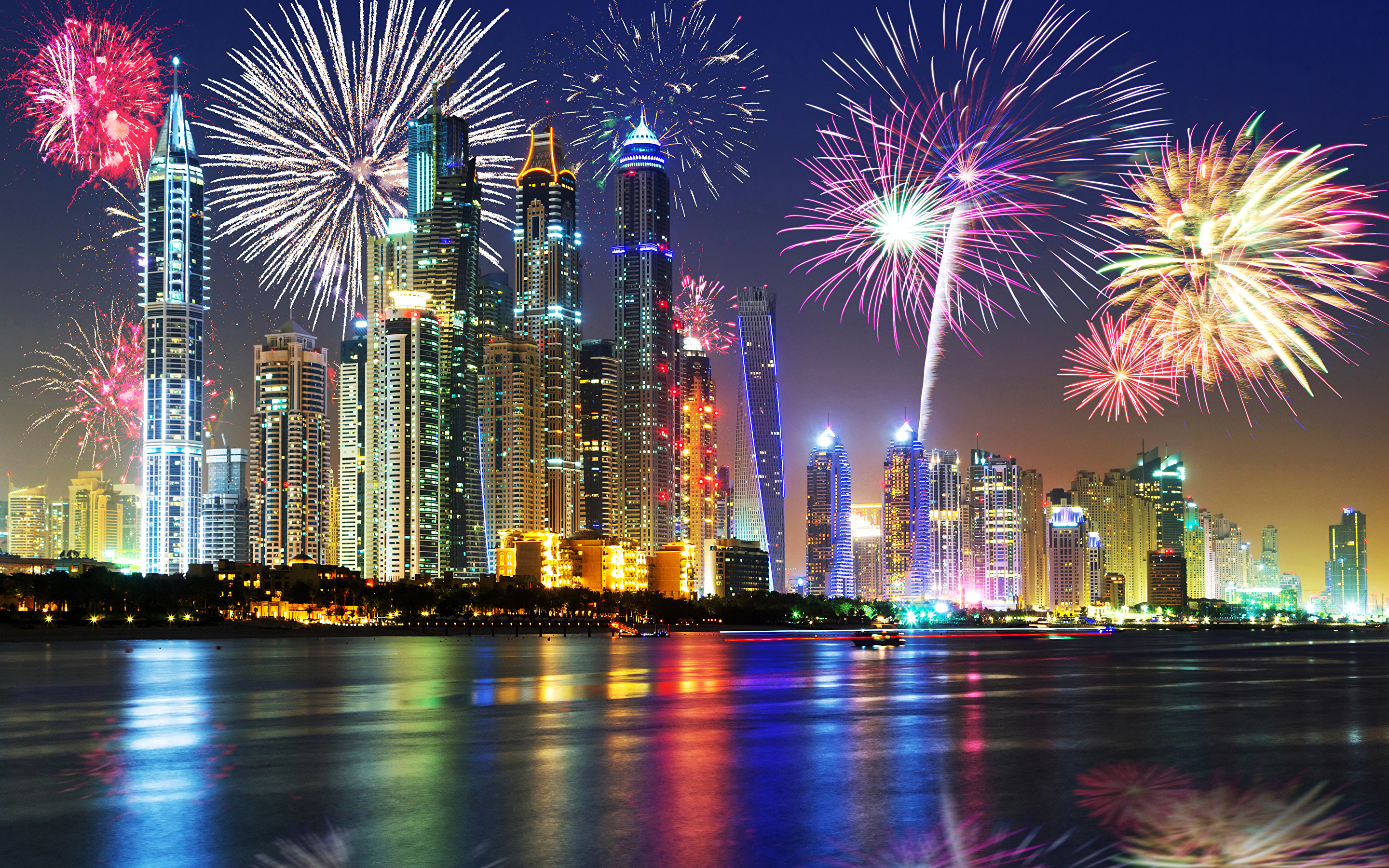 Happy New Year Fireworks Wallpaper