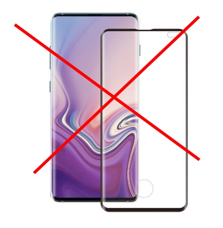 cutout hole glass protector for galaxy s10 s10+