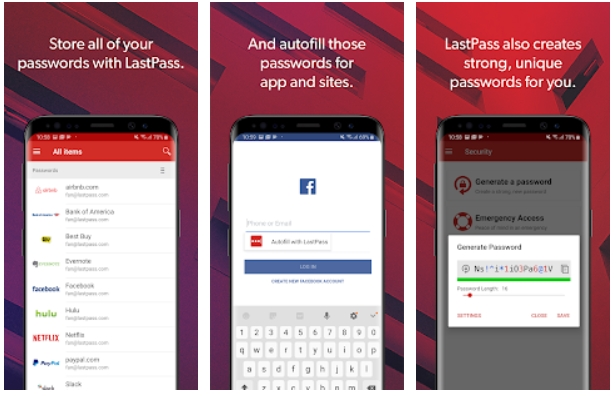 best free password managers for android lastpass