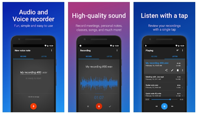 best voice recording apps for android