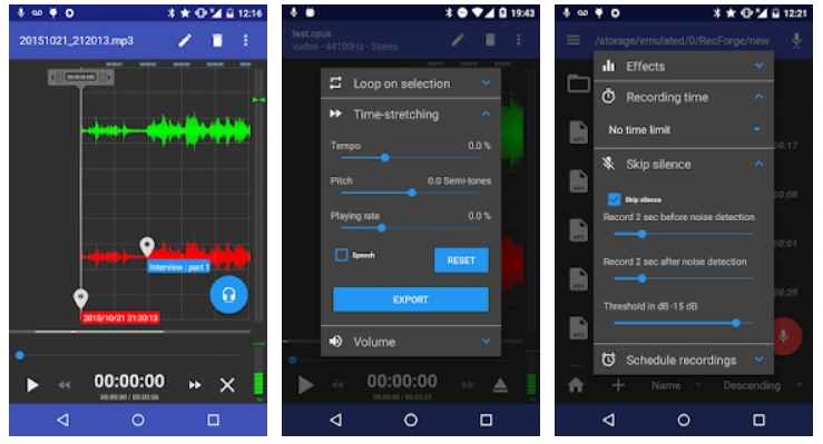 free android recording apps