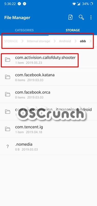 call of duty mobile obb data file