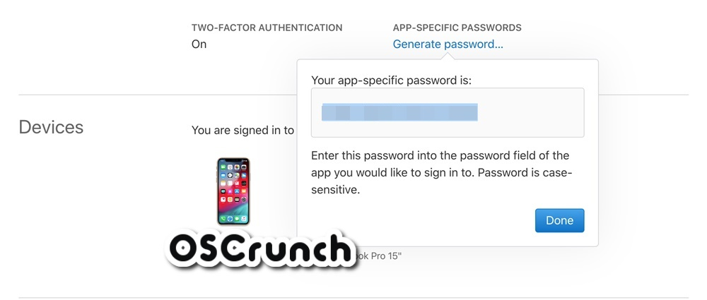 app specific password generator