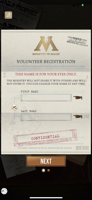 harry potter wizards unite sign up ipotter