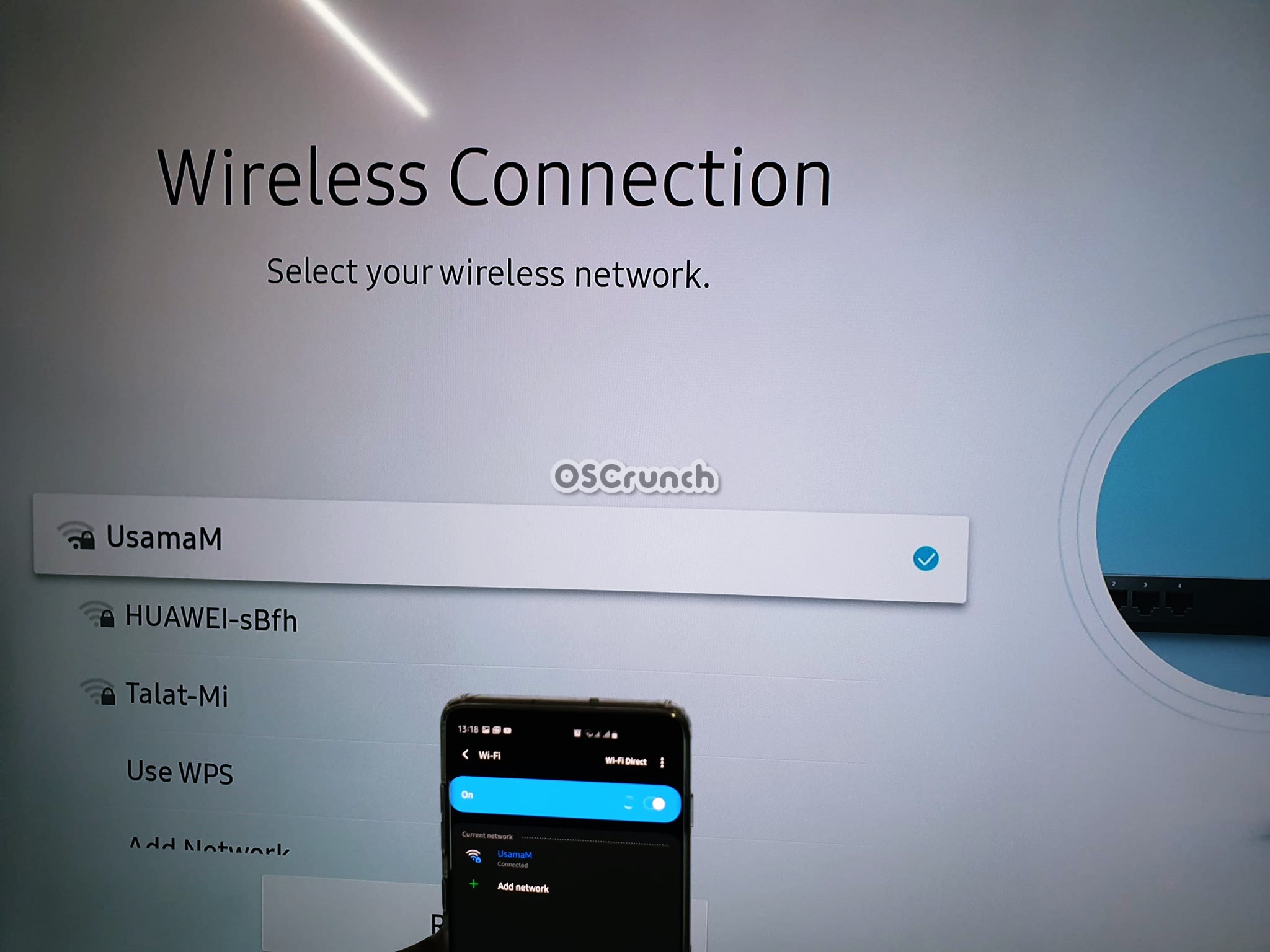 connecting TV and note 10 to same WiFi