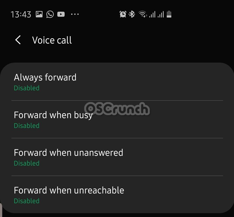 call forwarding on galaxy note 10