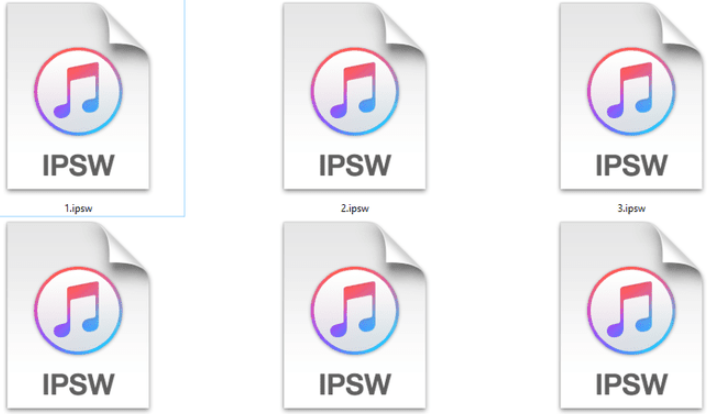 install Firmware IPSW File on iPhone or iPad